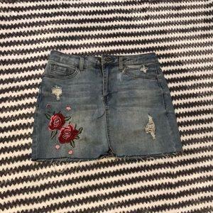 Rose Jean Skirt